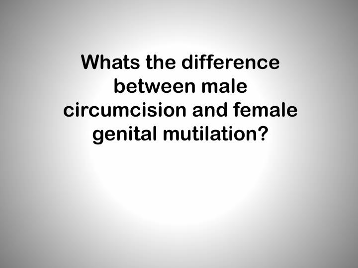 Whats the difference between male circumcision and female genital mutilation?