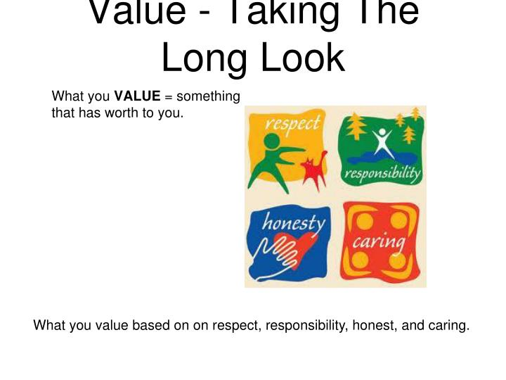 Value - Taking The Long Look