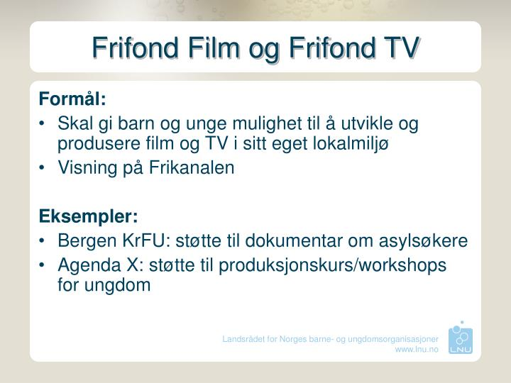 Frifond Film og Frifond TV