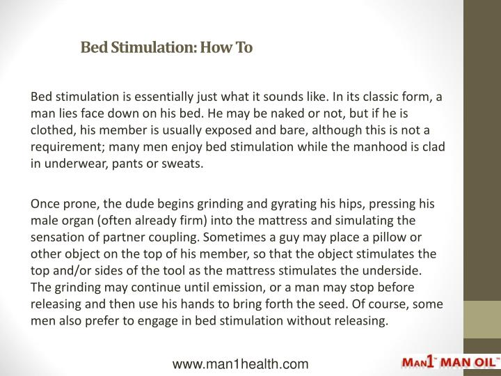 Bed stimulation how to