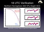 18 utc verification northern hemisphere 500 hpa height acc