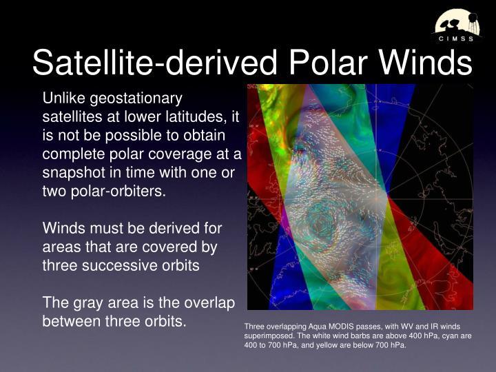 Satellite-derived Polar Winds
