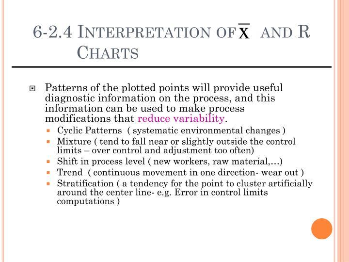 6-2.4 Interpretation of     and R