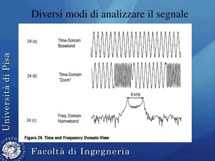 Diversi modi di analizzare il segnale