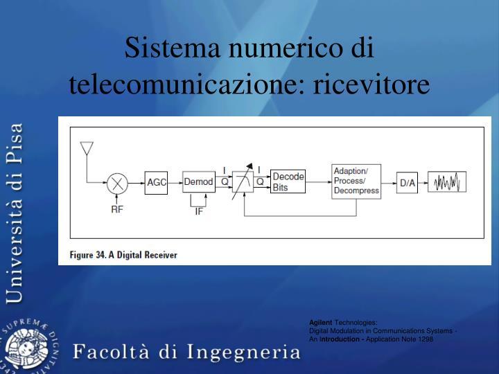 Sistema numerico di telecomunicazione: ricevitore