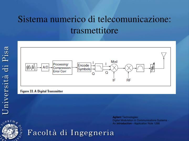 Sistema numerico di telecomunicazione: trasmettitore