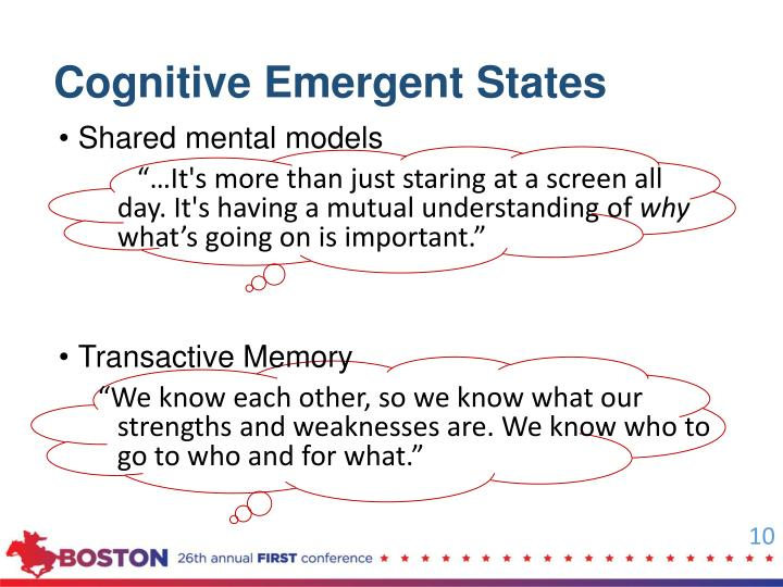 Cognitive Emergent States
