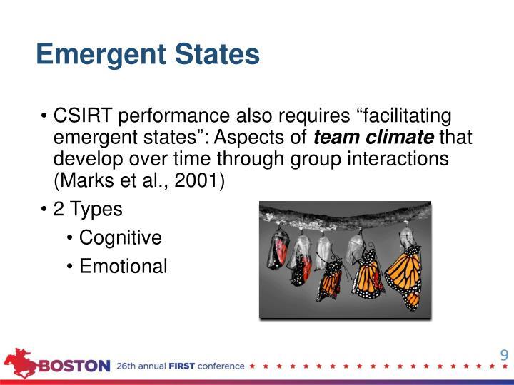 Emergent States