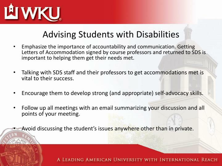 Advising Students with Disabilities