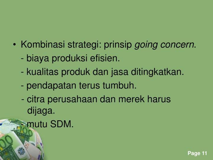 Kombinasi strategi: prinsip