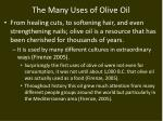 the many uses of olive oil