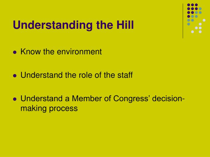 Understanding the hill
