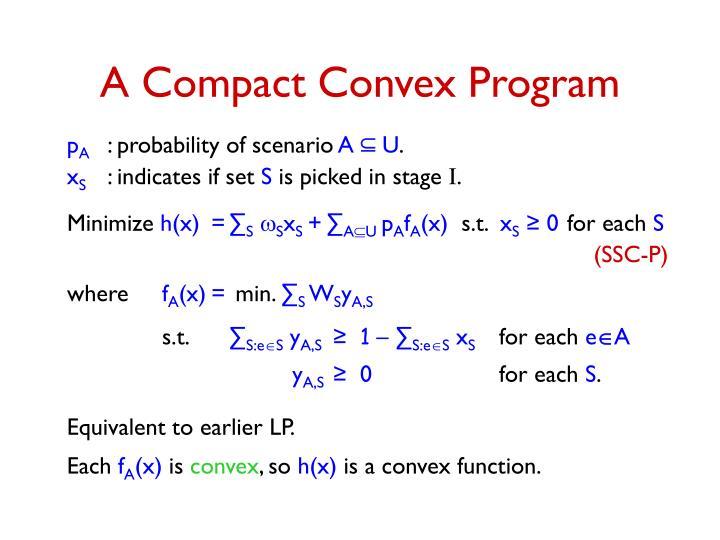 A Compact Convex Program