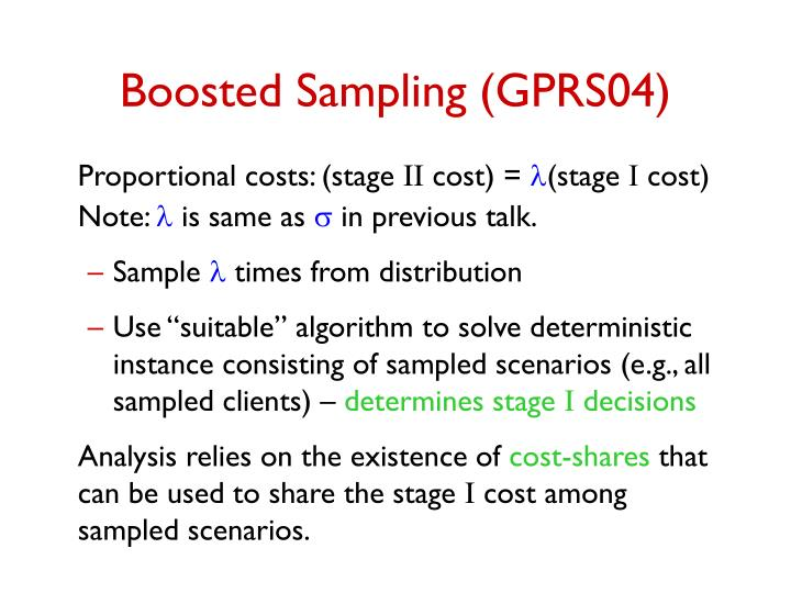 Boosted Sampling (GPRS04)