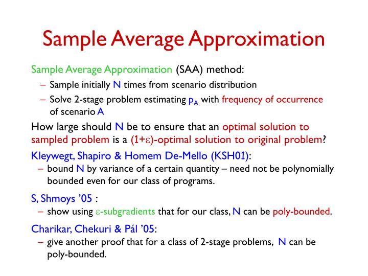 Sample Average Approximation