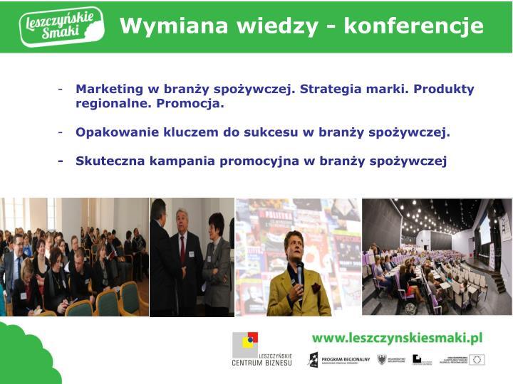 Wymiana wiedzy - konferencje