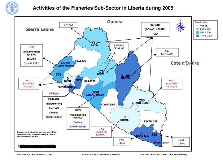 Activities of the Fisheries Sub-Sector in Liberia during 2005