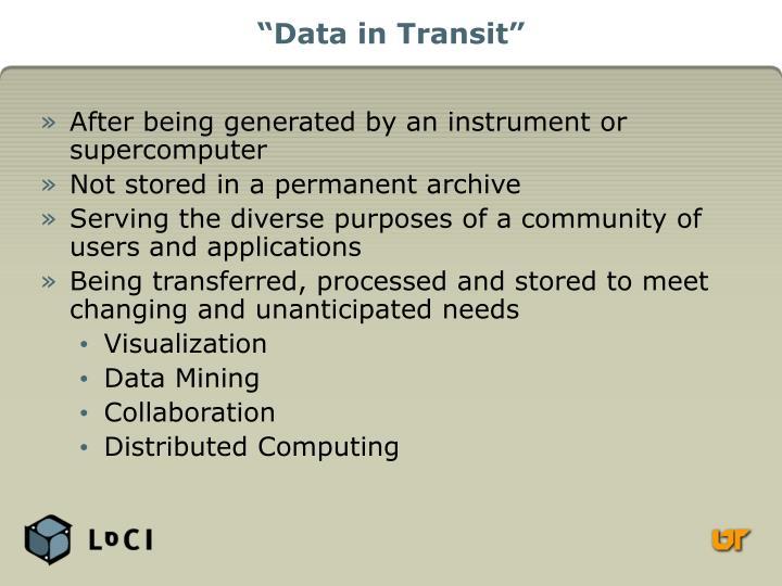 """Data in Transit"""