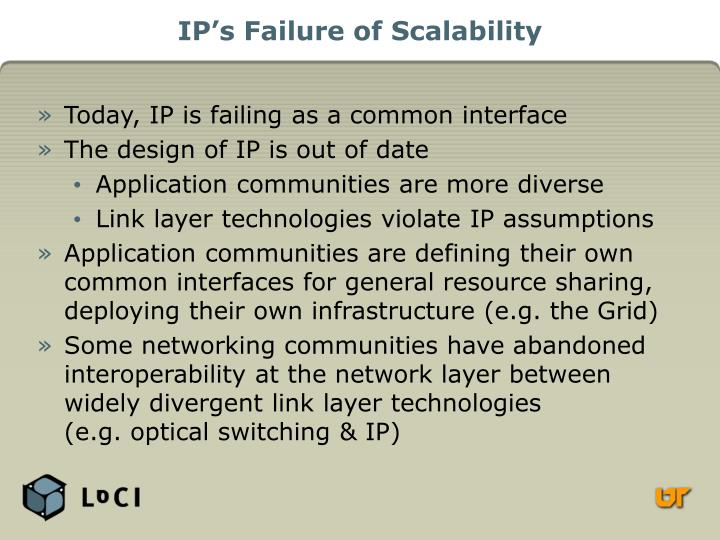 IP's Failure of Scalability
