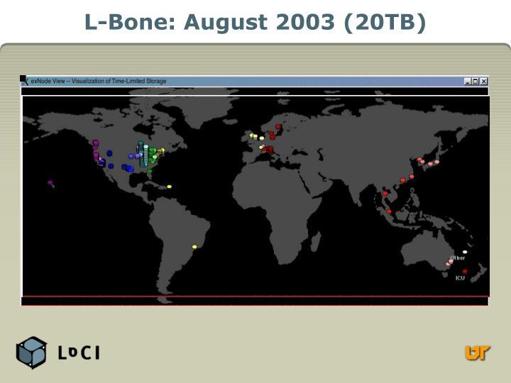L-Bone: August 2003 (20TB)
