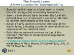 the transit layer a new location for interoperability