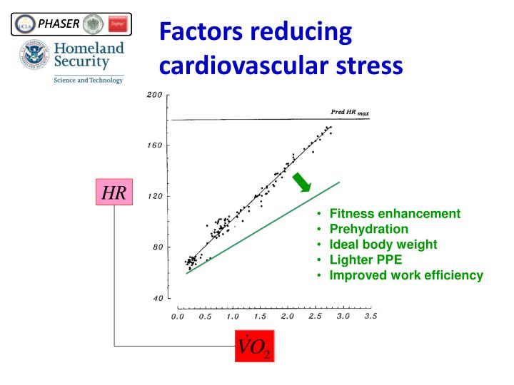 Factors reducing cardiovascular stress