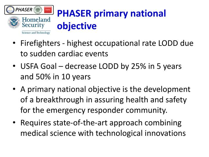 PHASER primary national objective