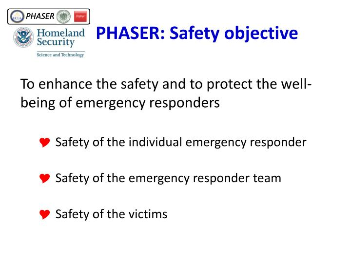 PHASER: Safety objective