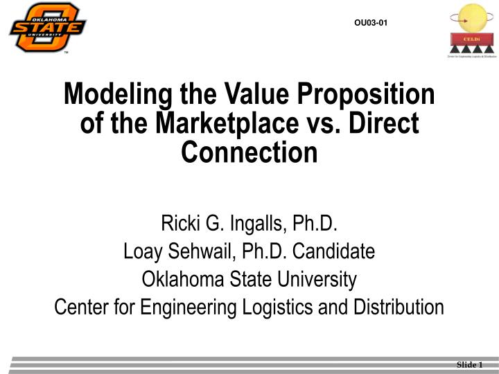Modeling the value proposition of the marketplace vs direct connection