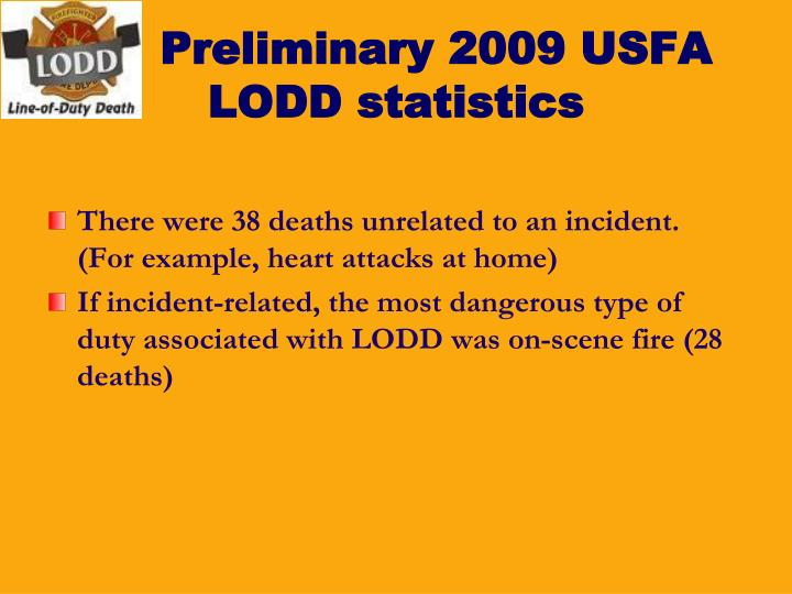 Preliminary 2009 USFA