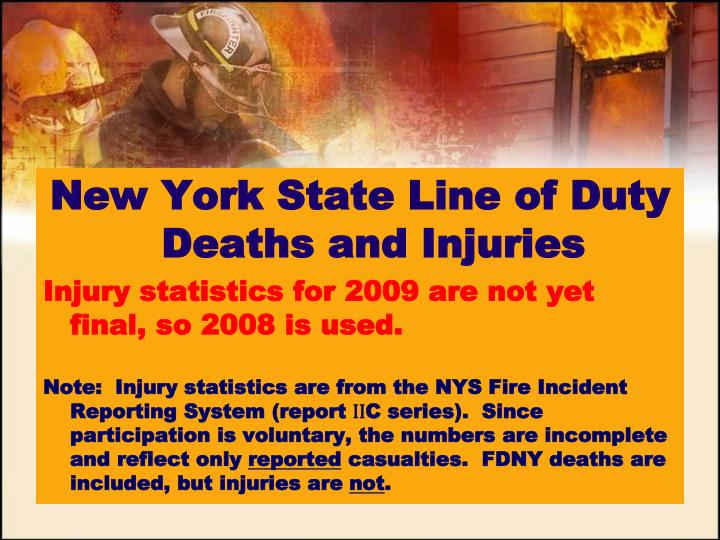 New York State Line of Duty Deaths and Injuries