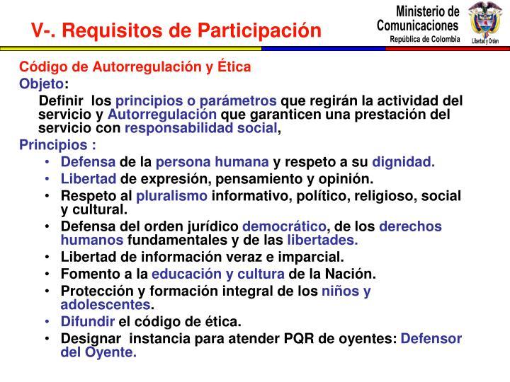 Código de Autorregulación y Ética