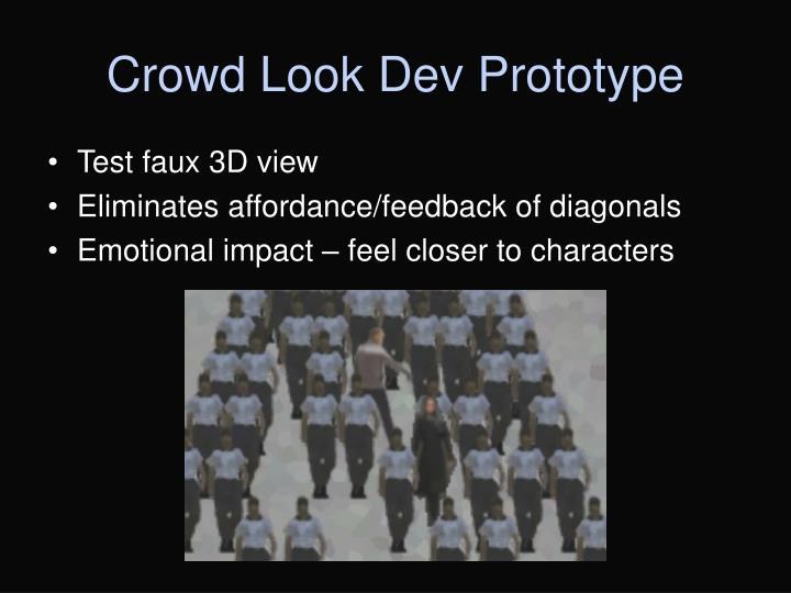 Crowd Look Dev Prototype