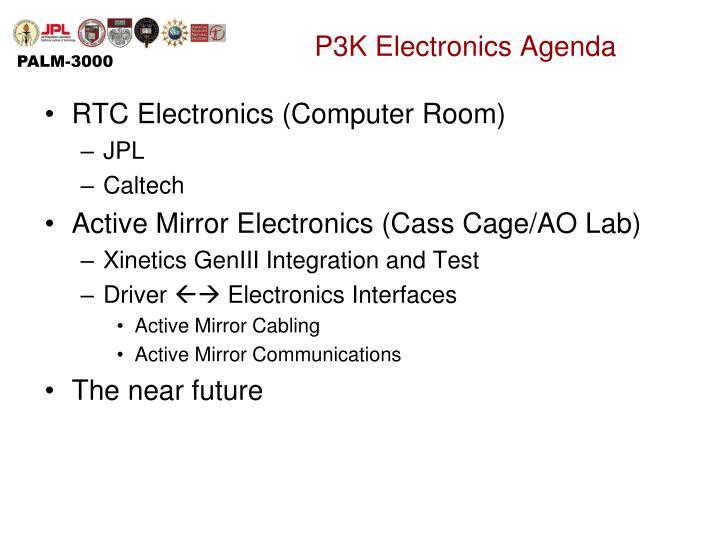 P3K Electronics Agenda