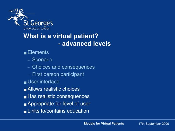 What is a virtual patient?