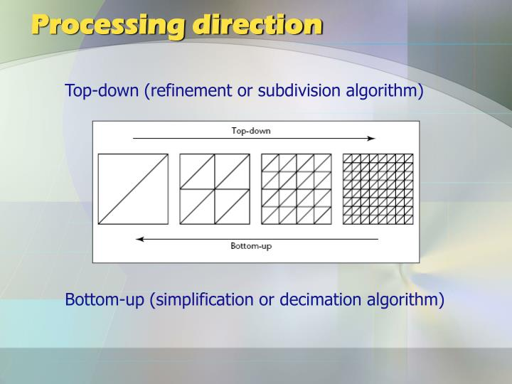 Processing direction