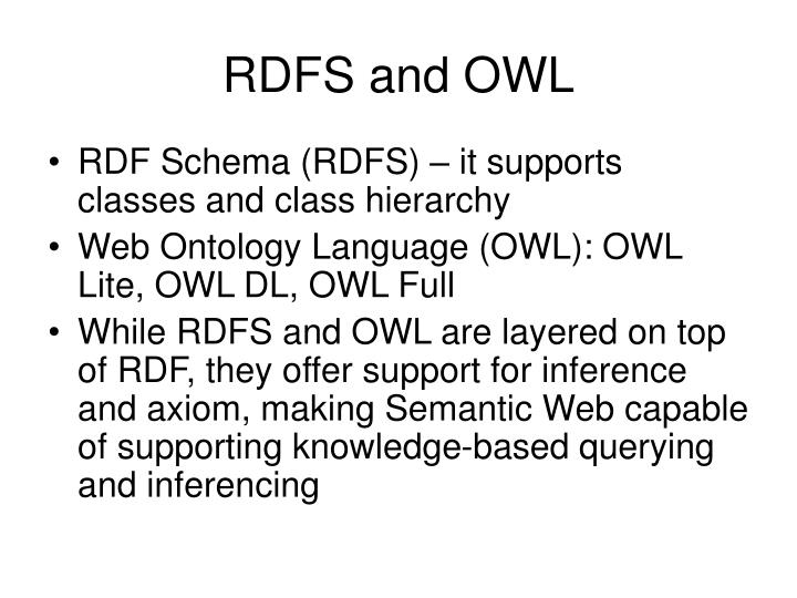 RDFS and OWL