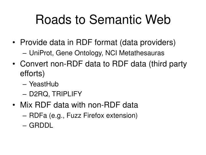 Roads to Semantic Web