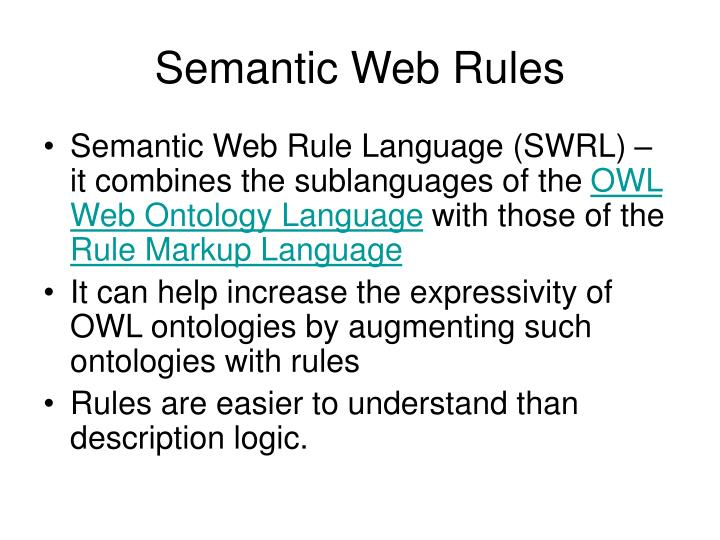 Semantic Web Rules