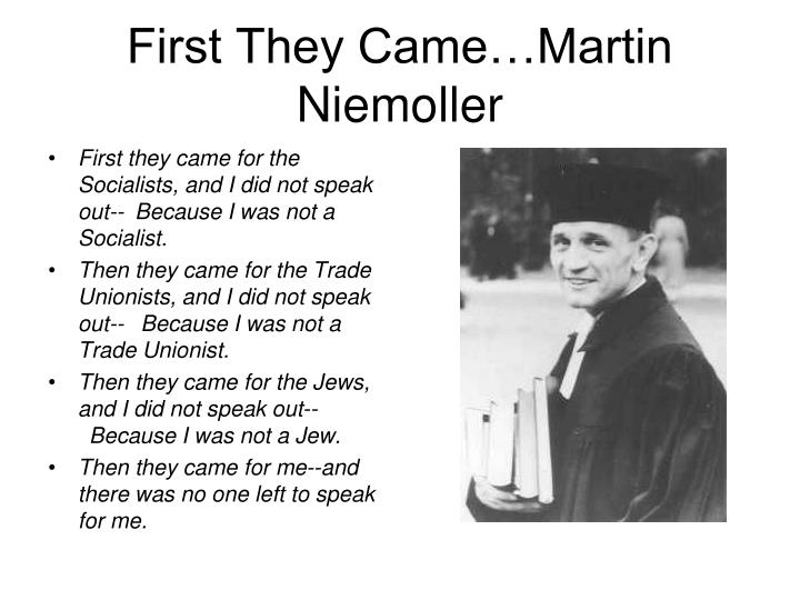First they came martin niemoller