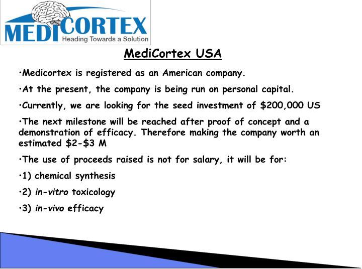 MediCortex USA
