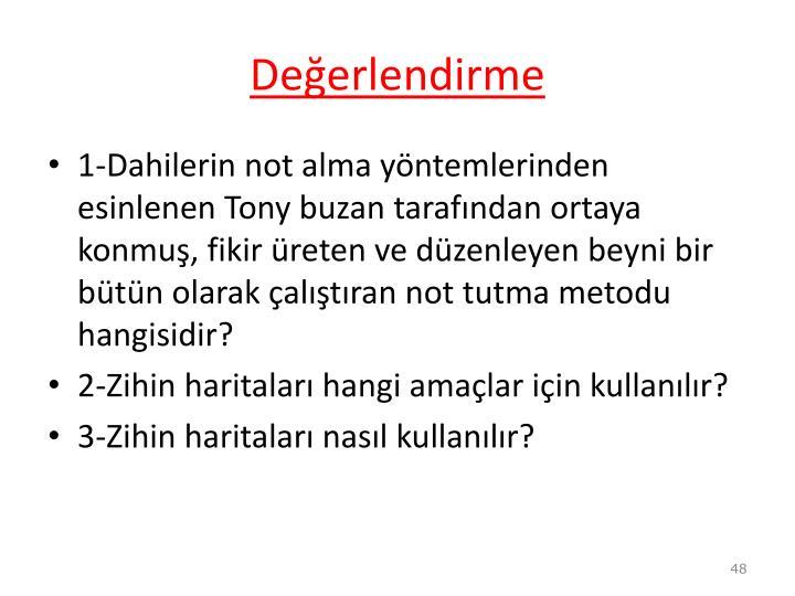 Deerlendirme