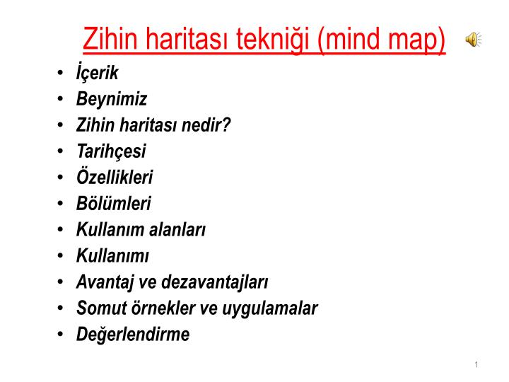 Zihin haritas tekni i mind map
