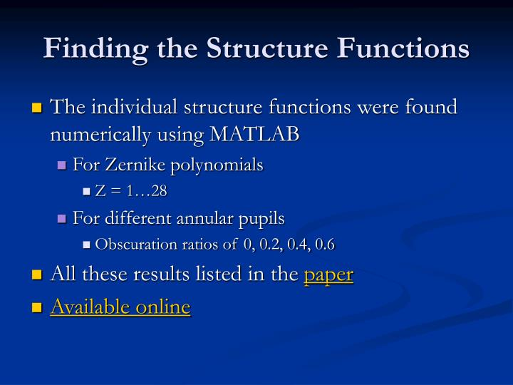 Finding the Structure Functions