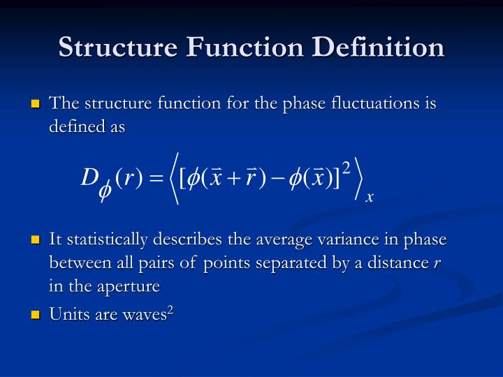 Structure Function Definition