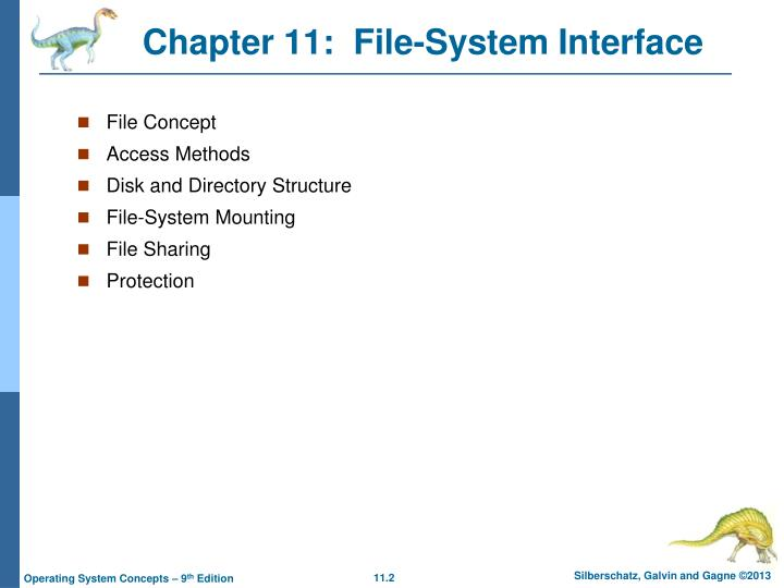 Chapter 11 file system interface1