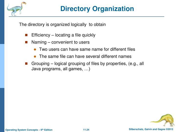 Directory Organization