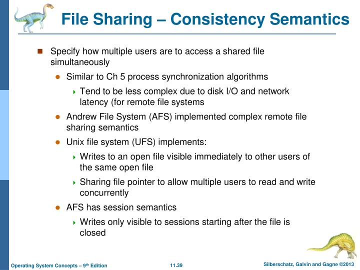 File Sharing – Consistency Semantics
