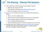 file sharing remote file systems