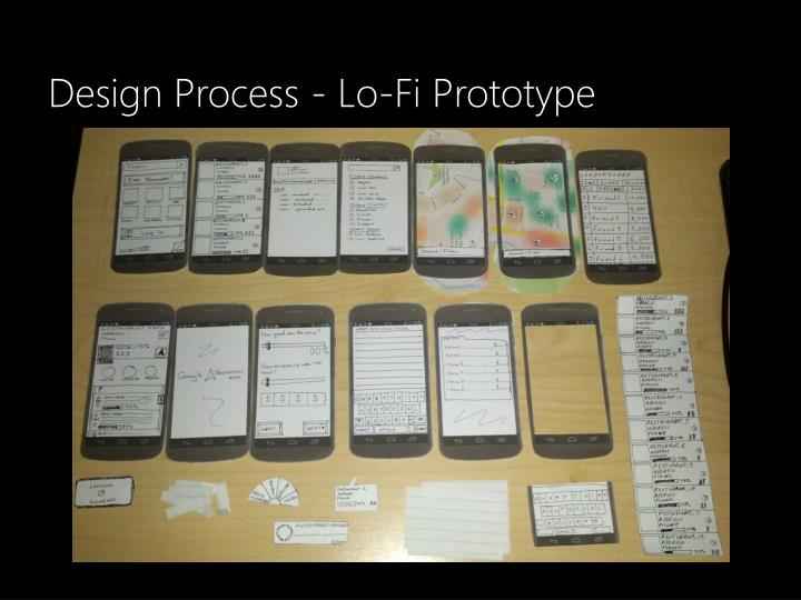 Design Process - Lo-Fi Prototype